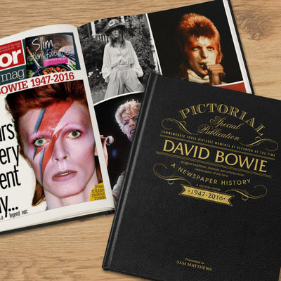 David Bowie Pictorial Edition Newspaper Book - Personalised Books-Personalised Gifts-Baby Gifts-Kids Books
