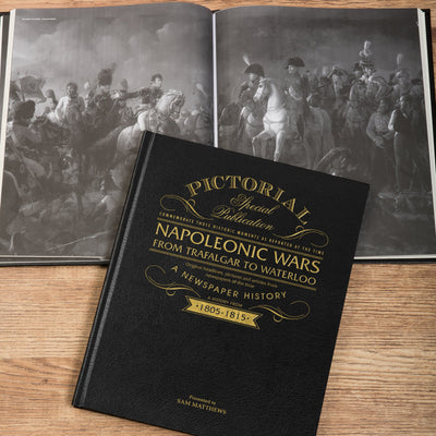 Napoleonic Wars Pictorial Edition Newspaper Book - Shop Personalised Gifts