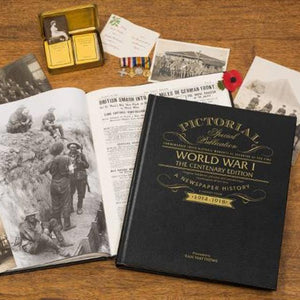 WW1 Pictorial Edition Personalised  Newspaper Book - Shop Personalised Gifts
