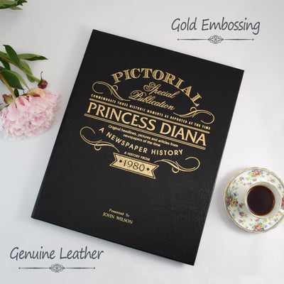 Princess Diana Pictorial Edition Newspaper Book - shop-personalised-gifts
