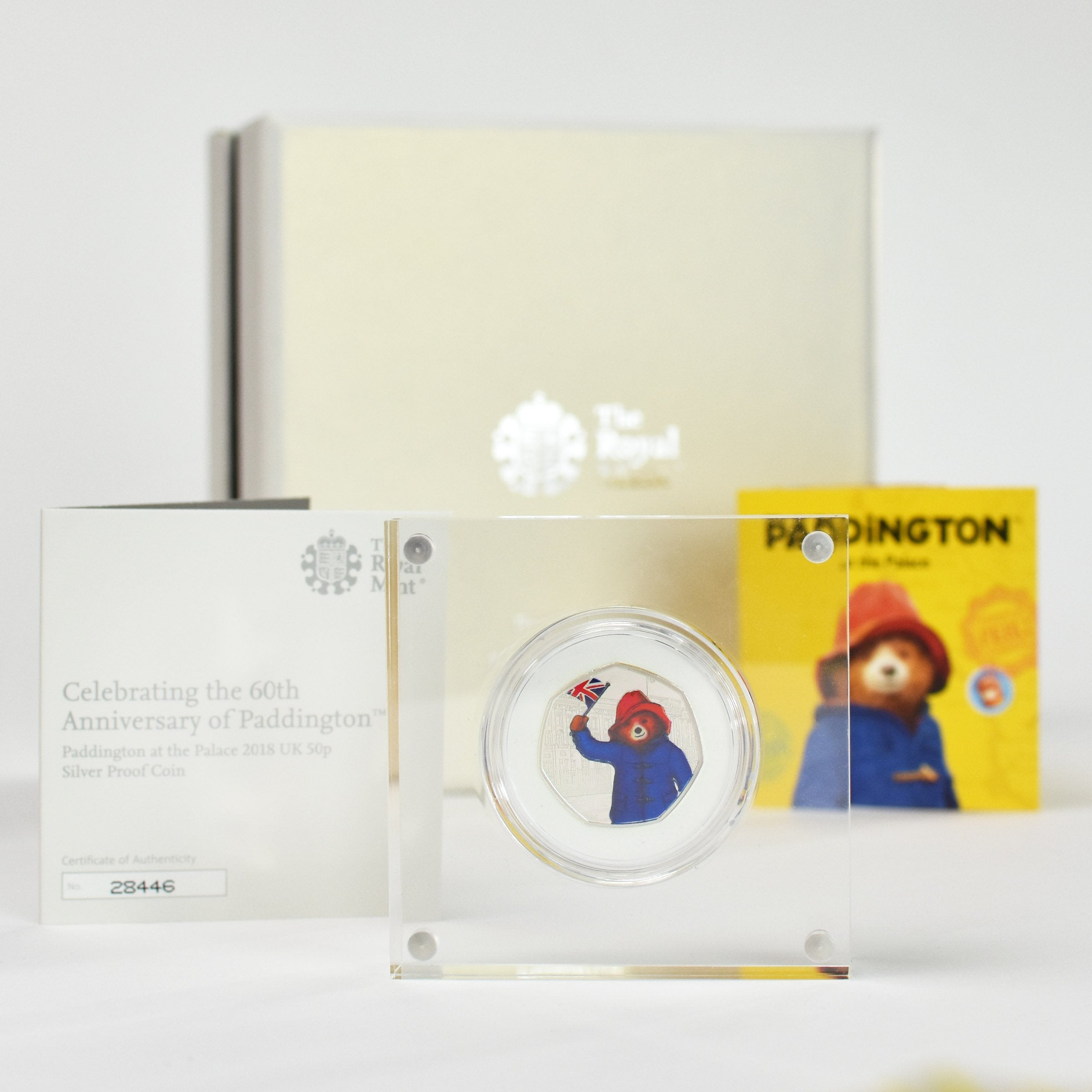 Silver Proof Royal Mint Paddington 50p in a deluxe personalised gift box - Shop Personalised Gifts