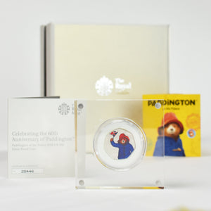 Silver Proof Royal Mint Paddington 50p in a deluxe personalised gift box - Personalised Books-Personalised Gifts-Baby Gifts-Kids Books