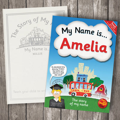 My Name Is… Personalised Book Alphabet & Spelling Collection - Personalised Books-Personalised Gifts-Baby Gifts-Kids Books