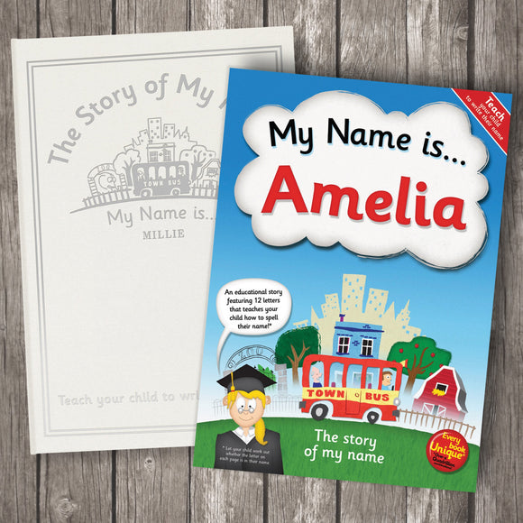 My Name Is… Personalised Book Alphabet & Spelling Collection - shop-personalised-gifts