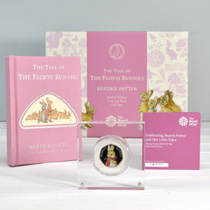 Flopsy Bunny Royal Mint Silver Proof Coin & Book Set - Personalised Books-Personalised Gifts-Baby Gifts-Kids Books