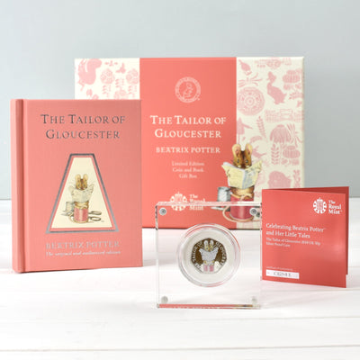Tailor of Gloucester Royal Mint Silver Proof Coin & Book Set - Personalised Books-Personalised Gifts-Baby Gifts-Kids Books