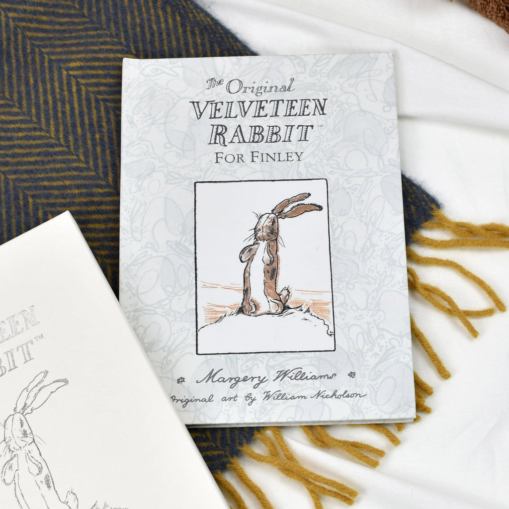 Personalised Velveteen Easter Rabbit First Edition Book - Shop Personalised Gifts