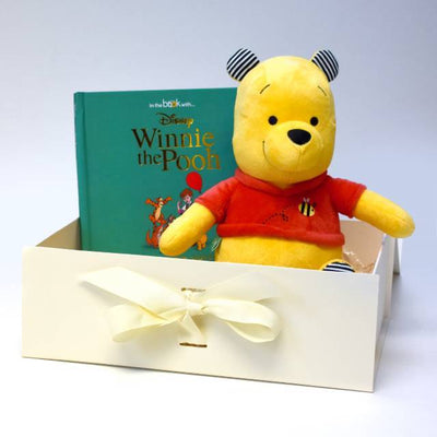 Winnie the Pooh Soft Toy and Disney Storybook - NEW Plush Toy - Personalised Books-Personalised Gifts-Baby Gifts-Kids Books