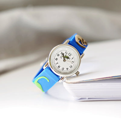 Kids Personalised 3D Dinosaur Watch - Blue - Personalised Books-Personalised Gifts-Baby Gifts-Kids Books