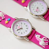 Kids Personalised Girls 3D Unicorn Watch - Pink - Shop Personalised Gifts