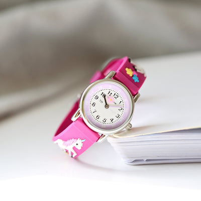 Kids Personalised Girls 3D Unicorn Watch - Pink - Personalised Books-Personalised Gifts-Baby Gifts-Kids Books