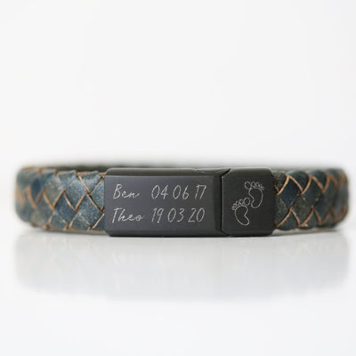 Own Handwriting Leather Engraved Antique Style Bracelet - Iron - Shop Personalised Gifts