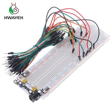 Load image into Gallery viewer, 3.3V/5V MB102 Breadboard power module+MB-102 830 points Solderless Prototype Bread board kit +65 Flexible jumper wires