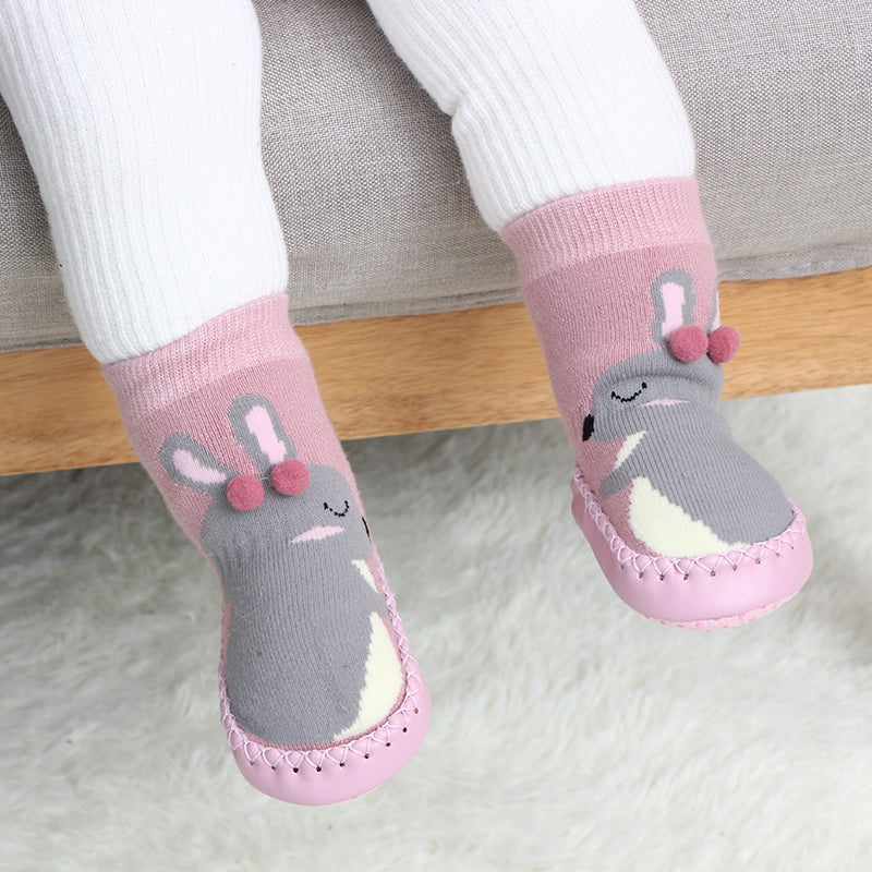 cbcf846bab Baby Toddler Anti-slip Slippers Indoor Floor Shoes Socks Boots