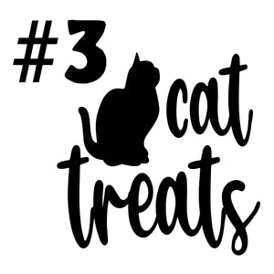 Cat Treat Ceramic Black and White Jar PICK A DESIGN