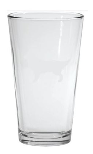 Pint Glass Embossed