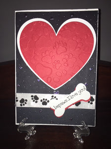 "Homemade ""Bepaws I Love You"" Card"