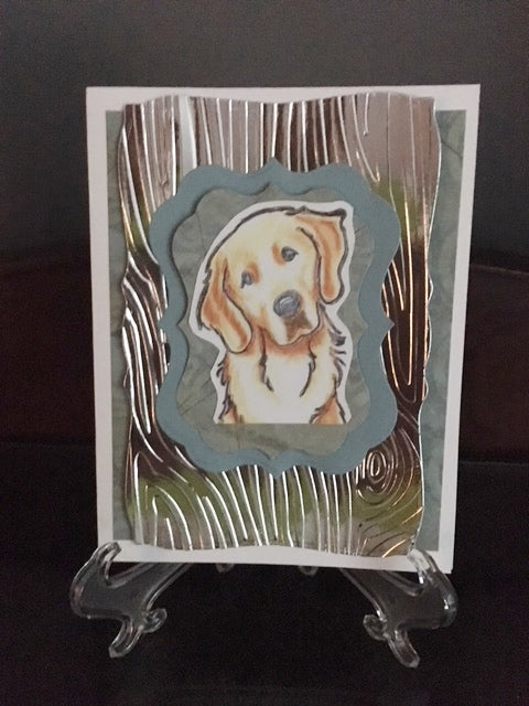 Homemade Golden Retriever Card