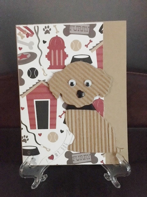Homemade Dog Themed Card
