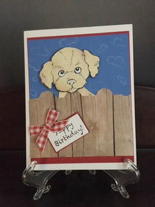 "Homemade ""Yappy"" Birthday Golden Card"