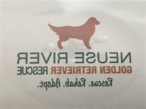 NRGRR Oval Car Decal (inside of car)