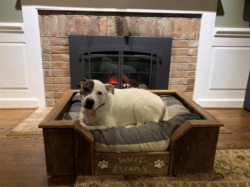 Wood Custom Dog Bed Frame