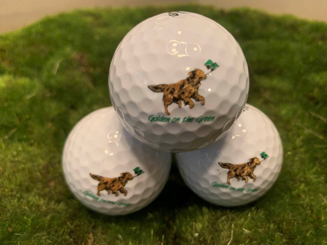 Golden on the Green golf balls-3 pack
