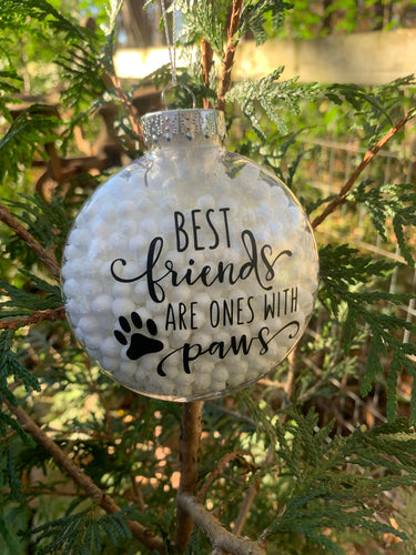 Plastic White Ornament with quote