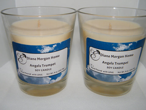 Angels Trumpet  Candle  (8 oz.)