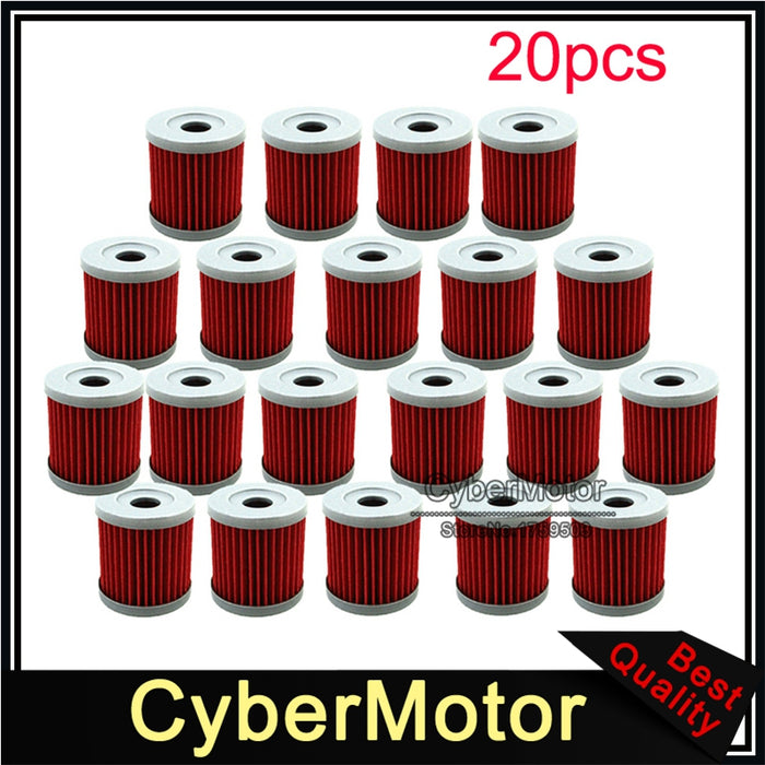 20x Oil Filter For DRZ 400 400E 400X 400SM KLX 400SR LTZ LTR450 SUZUKI Dirt  Bike Motorcycle