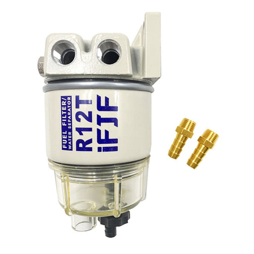 iFJF R12T Marine Fuel Filter Water Separator Combo NPT ZG1/4-19 Replaces Racor S3240 R12T 120AT Sierra 18-7987 RK10222