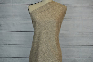 ALYSSA--HACCI SWEATER KNIT--HEATHERED BEIGE AND GRAY