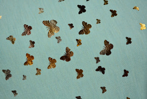ANGELICA--FRENCH TERRY, 2 TONE FOIL BUTTERFLIES