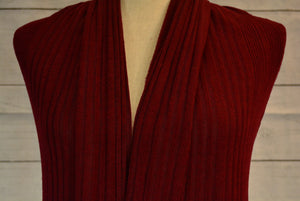 BETTY--BRUSHED RIB KNIT-- WINE