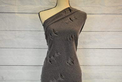 LUCINDA--DISTRESSED KNIT--CHARCOAL