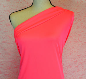 NATALIE--NEON PINK ATHLETIC BRUSHED POLY