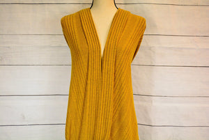 TESS--BRUSHED RIB KNIT--MUSTARD