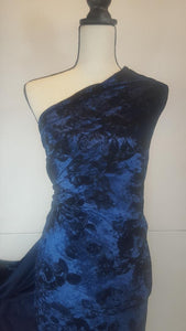 TRINITY--CRUSHED VELVET WITH FLORAL FLOCKING