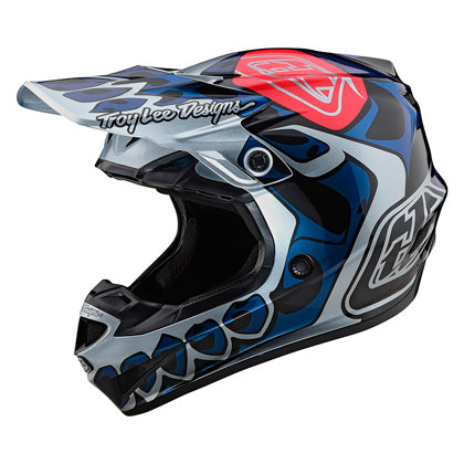 Casco Troy Lee SE4 Polyacrylite Skully Silver ALL2BIKES