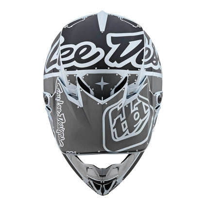 Casco Troy Lee SE4 Polyacrylite Factory Silver All2bikes