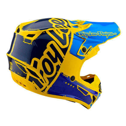 Casco Troy Lee SE4 Polyacrylite Factory Yellow ALL2BIKES