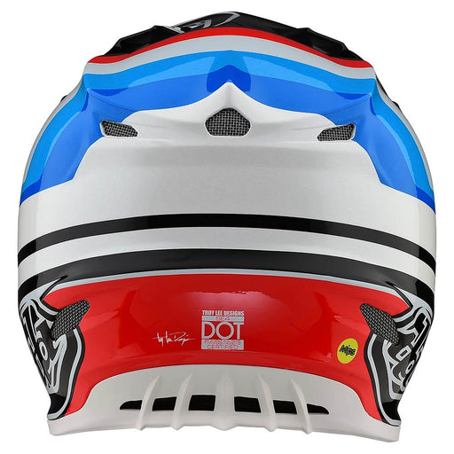 Casco Troy Lee SE4 Comp Mirage White Balck ALL2BIKES