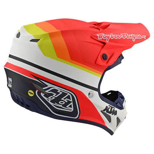 Casco Troy Lee SE4 KTM Mirage White Red ALL2BIKES