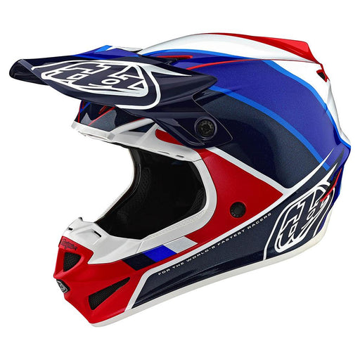 Casco Troy Lee SE4 Polyacrylite Beta Red Blue all2bikes