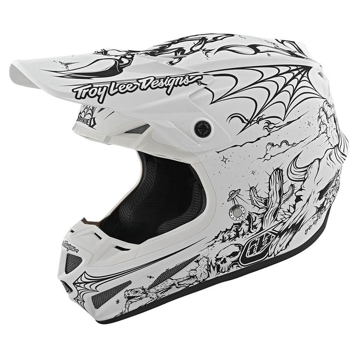 Casco Troy Lee SE4 Comp Stranded White all2bikes