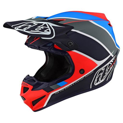 Casco Troy Lee SE4 Polyacrylite Beta Orange Navy ALL2BIKES