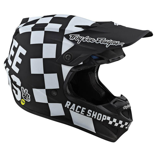 Casco Troy Lee SE4 Polyacrylite Checker Black White ALL2BIKES