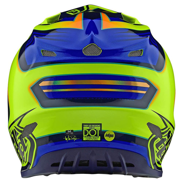 Casco Troy Lee SE4 Flash Yellow BLue all2bikes