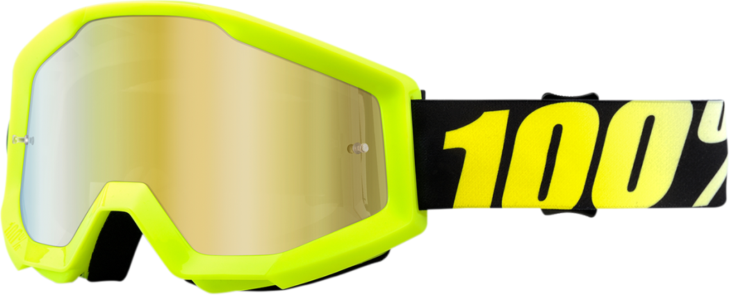Goggles 100% Strata Neon Yellow ALL2BIKES