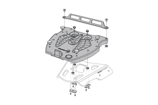 Placa Adaptadora SW Motech Quick Lock Base Plastica Maleta Trasera- Givi- Kappa, Steel-Rack Monolock all2bikes